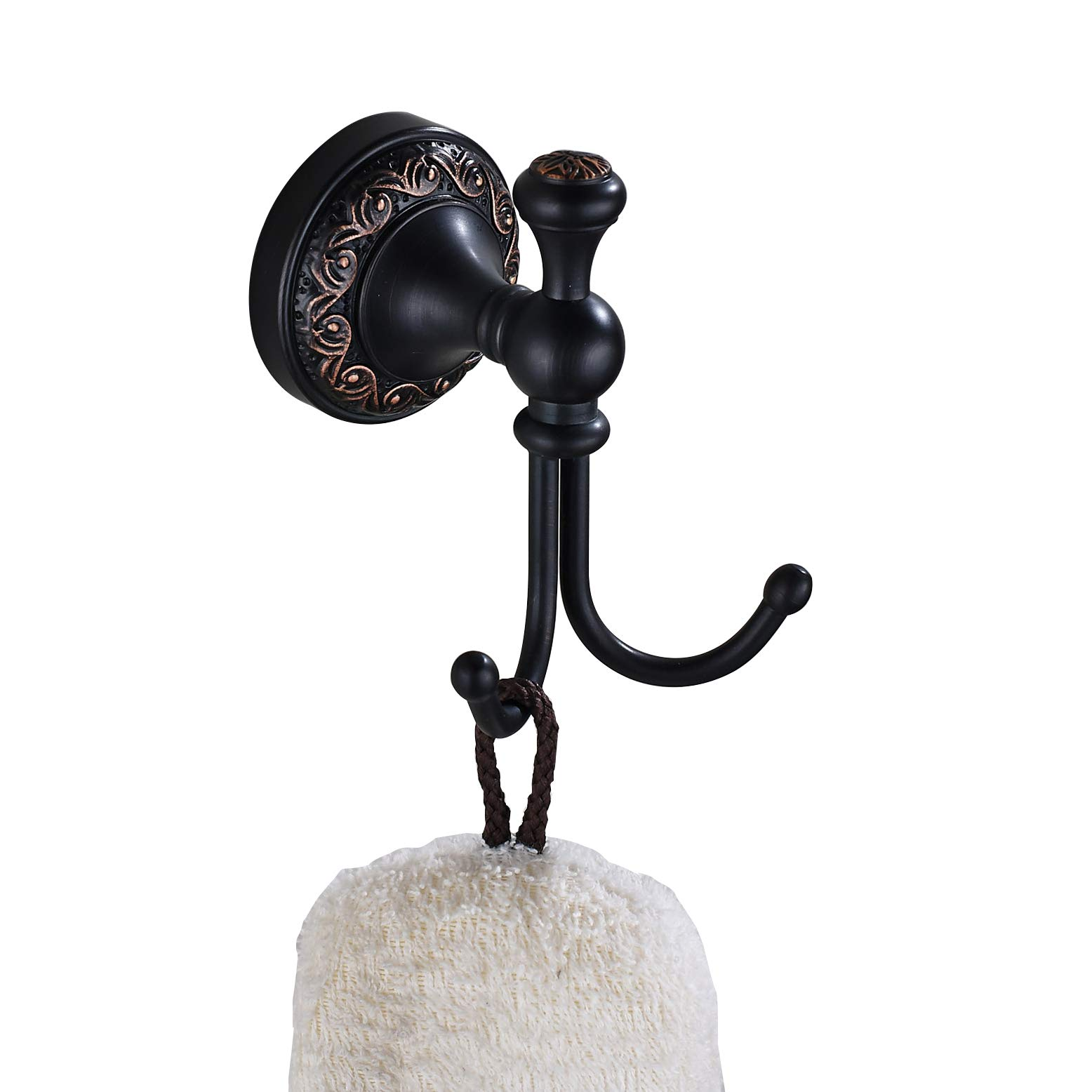 Rozin Wall Mounted Bath Towel Hook Clothes Robe Hanger Oil Rubbed Bronze by Rozin