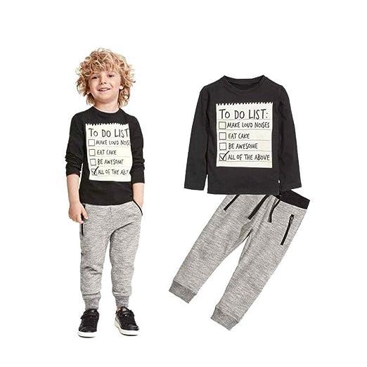 627037e228bb Amazon.com  ❤ Mealeaf ❤ Toddler Outfits Kids Boys Handsome ...