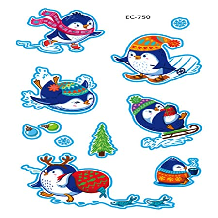 zgmtj Etiqueta engomada Linda del Tatuaje del pingüino EC-750 120 ...
