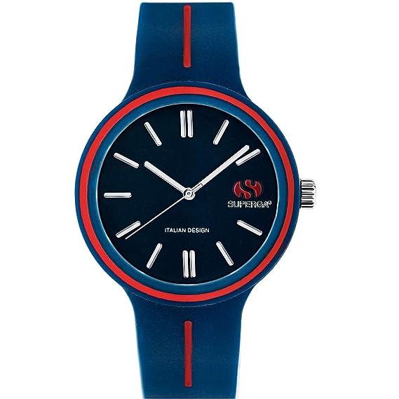 Solo Tiempo Reloj mujer de cuarzo con esfera analógica y correa de silicona – azul –