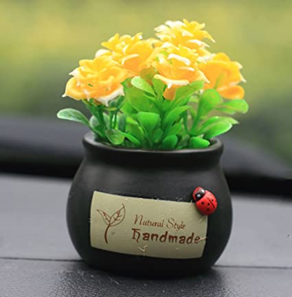 Amazon Com Newness World Mini Car Cartoon Resin Ornament Car