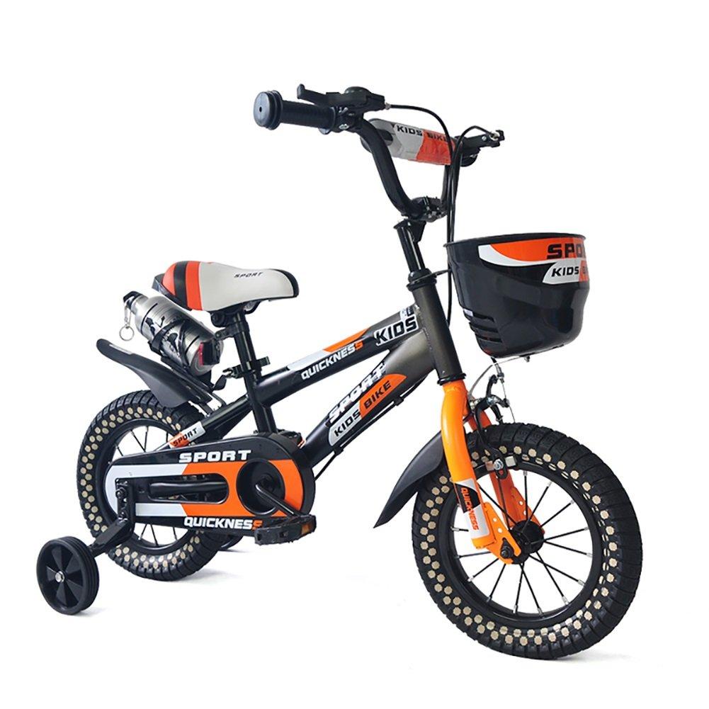 少年少女自転車マウンテンバイク2-4-6-7-8歳の子供の自転車14 16インチのベビーペダル自転車赤ちゃんキャリッジオレンジ B07DYGWVBK 14 inch