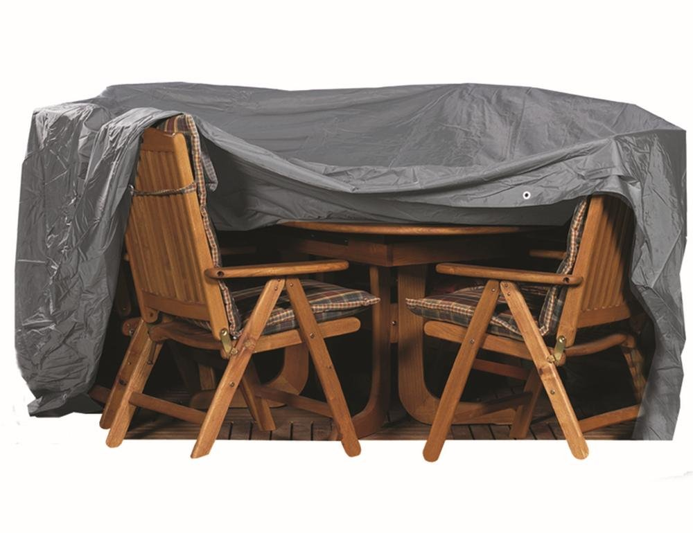 542310 Sitzgruppenhülle anthrazit Polyestergewebe Oxford 600 D L 350 x B 250 x H 96 cm oval