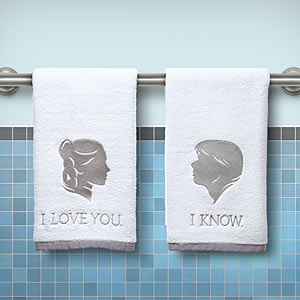 Star Wars Han and Leia Hand Towels | ThinkGeek