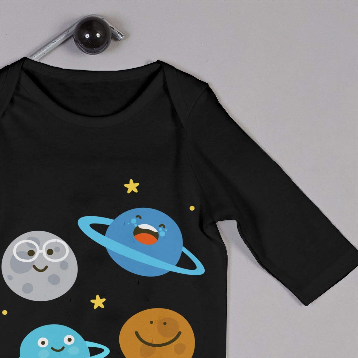 UGFGF-S3 Solar System Planet Cartoon Baby Boy Girl Long Sleeve Bodysuit Baby Clothes