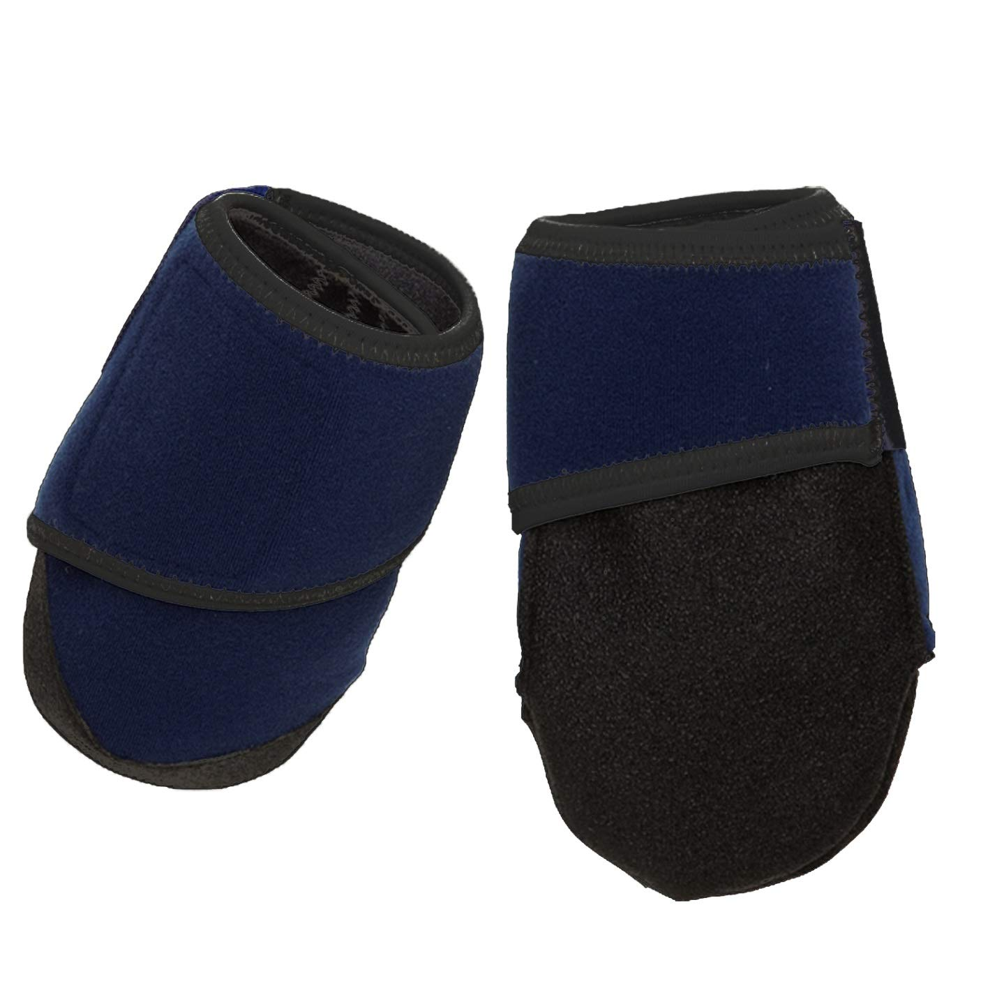 Healers Medical Dog Boots and Gauze Bandages, Box Set of 2 Boots with 2 Gauze Pads, Blue