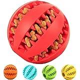 PETAKE Palle di cane Palloni per animali Silicone dente pulizia masticazione giocattolo palla Gioco per cani ideale per la pulizia dei denti 2.7in (rosso)