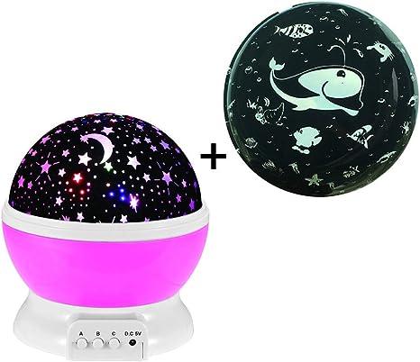 Proyector de Estrellas LED, lámpara de proyección para mesita de ...