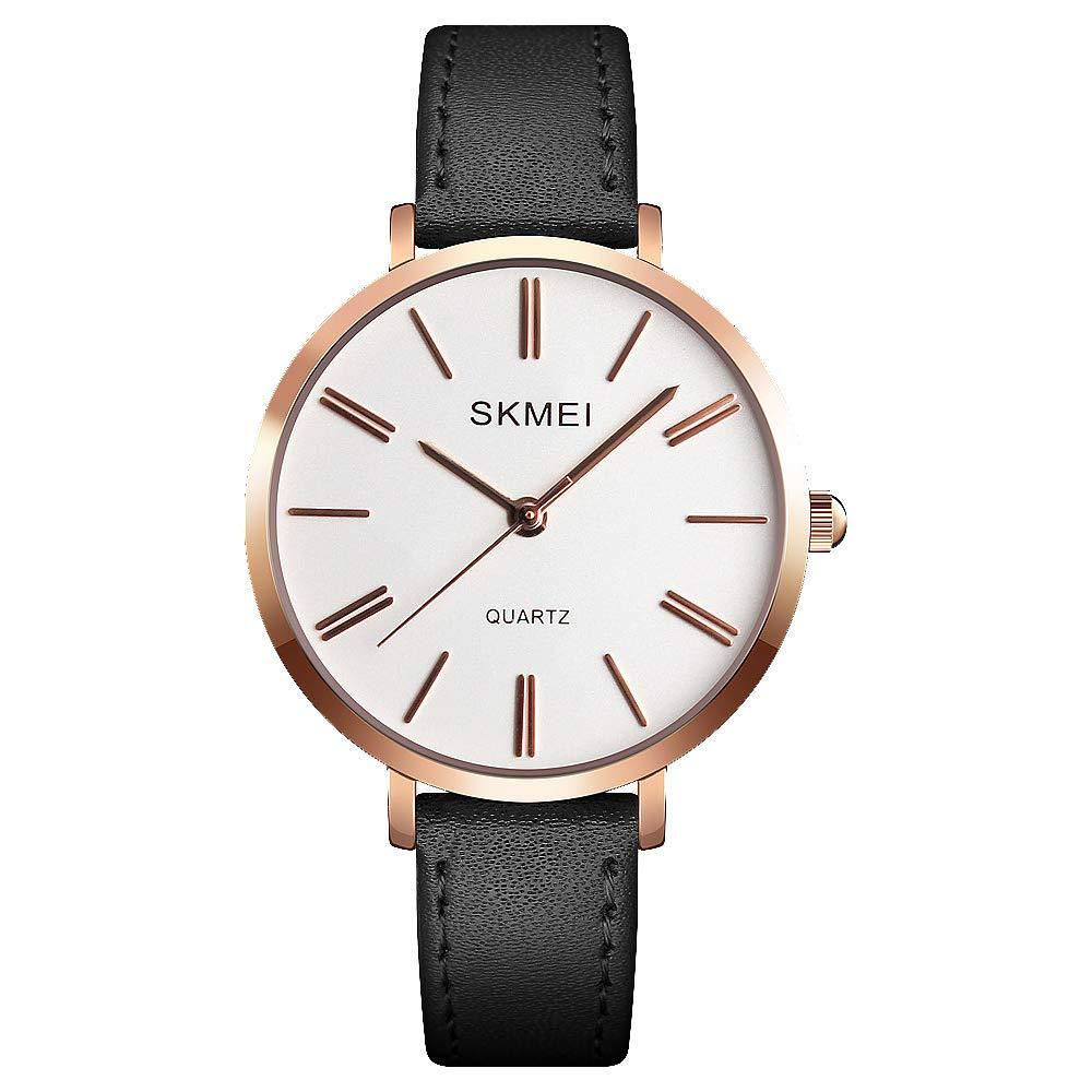 SKMEI Women Waterproof Watch Wrist Watch for Lady Girls Dress Casual Analog Quartz Watches for Women