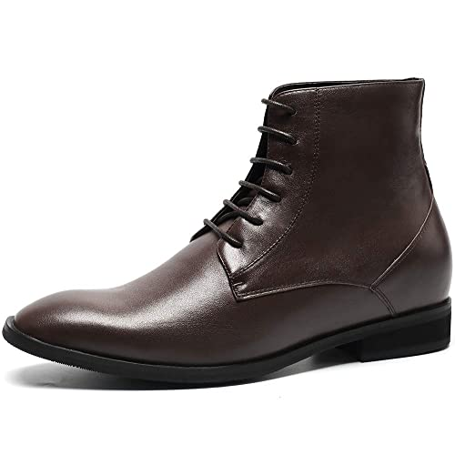 CHAMARIPA Chaussures Rehaussantes Bottes Martin en Cuir pour