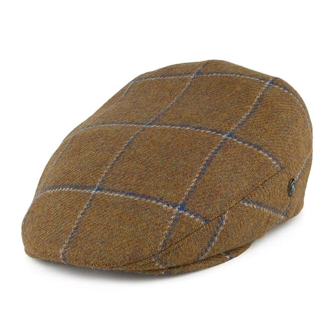 348363252 City Sports Hats Windowpane Virgin English Wool Flat Cap - Light ...