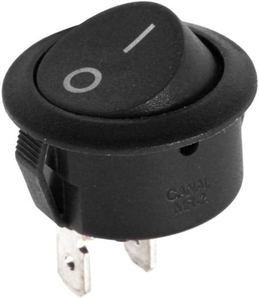 1/interrupteur /à bascule Interrupteur /à bascule 6/A 250/V ON//OFF rond noir Robex R5/0