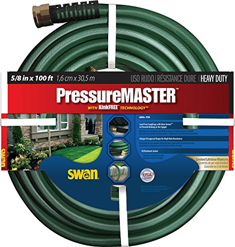 Swan Products SN7958100 Garden Hose, 100 ft, Green