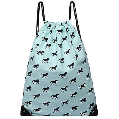 84b92b4d0310 Horse Drawstring Bag