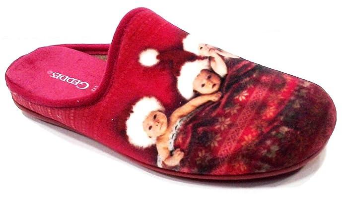 ANNE GEDDES - Zapatillas de estar por casa para mujer Rojo rojo 36 Rojo Size: 39 RCBGCq