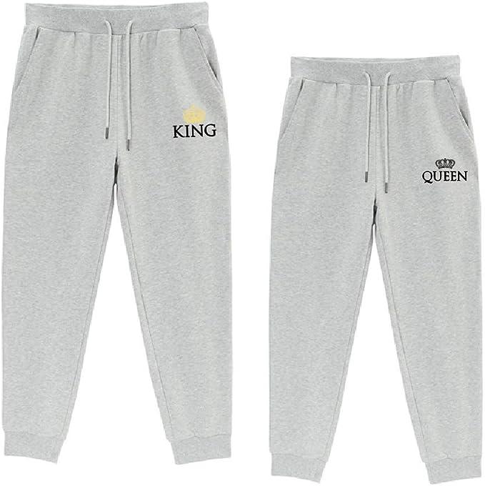 Rey Reina Pantalones Deportivos Pareja King Queen Pantalón de ...