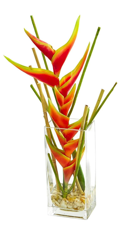 シルクフラワー ミニヘリコニア アレンジメント 造花 B07L2MPR7S