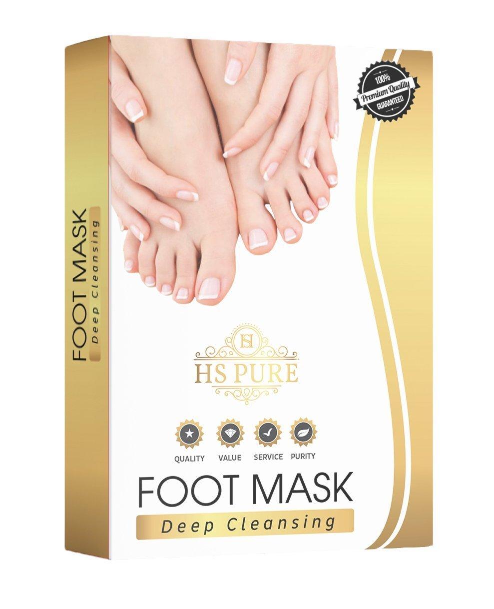 HS Pure Fuß-Peeling-Maske - Peeling zur Hornhautentfernung - Für babyzarte Füße (1 Paar) LTD.