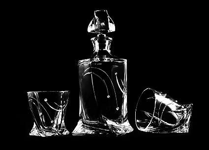 Whisky Set Star cristal cortado a mano decorado con cristales de Swarovski, ...