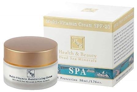 H&B Health & Beauty Dead Sea Minerals - Multi Vitamin Face Cream for Women - Moisturizer with SPF 20