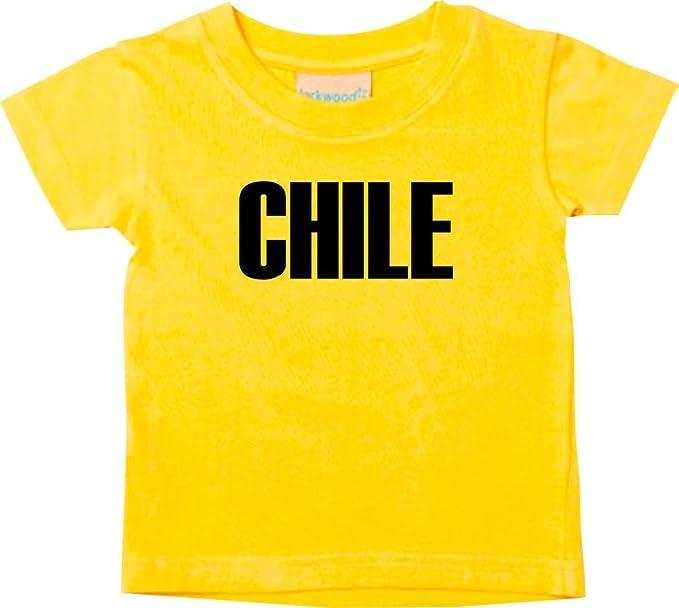 Shirtstown Bebé Niños Camiseta Fútbol Camiseta de País Chile - amarillo, 0-6Monate