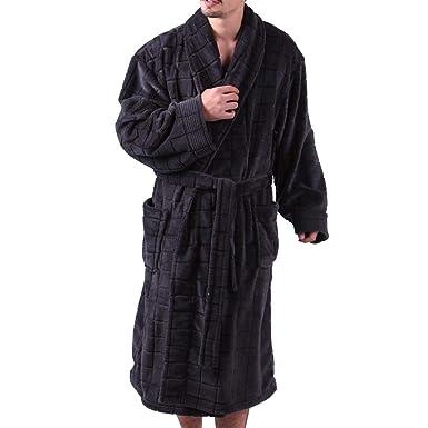 01ec1823c Mens Bathrobe Terry Cloth - Big   Tall Sleepwear Nightwear for Men  Lightweight By ALL AOER