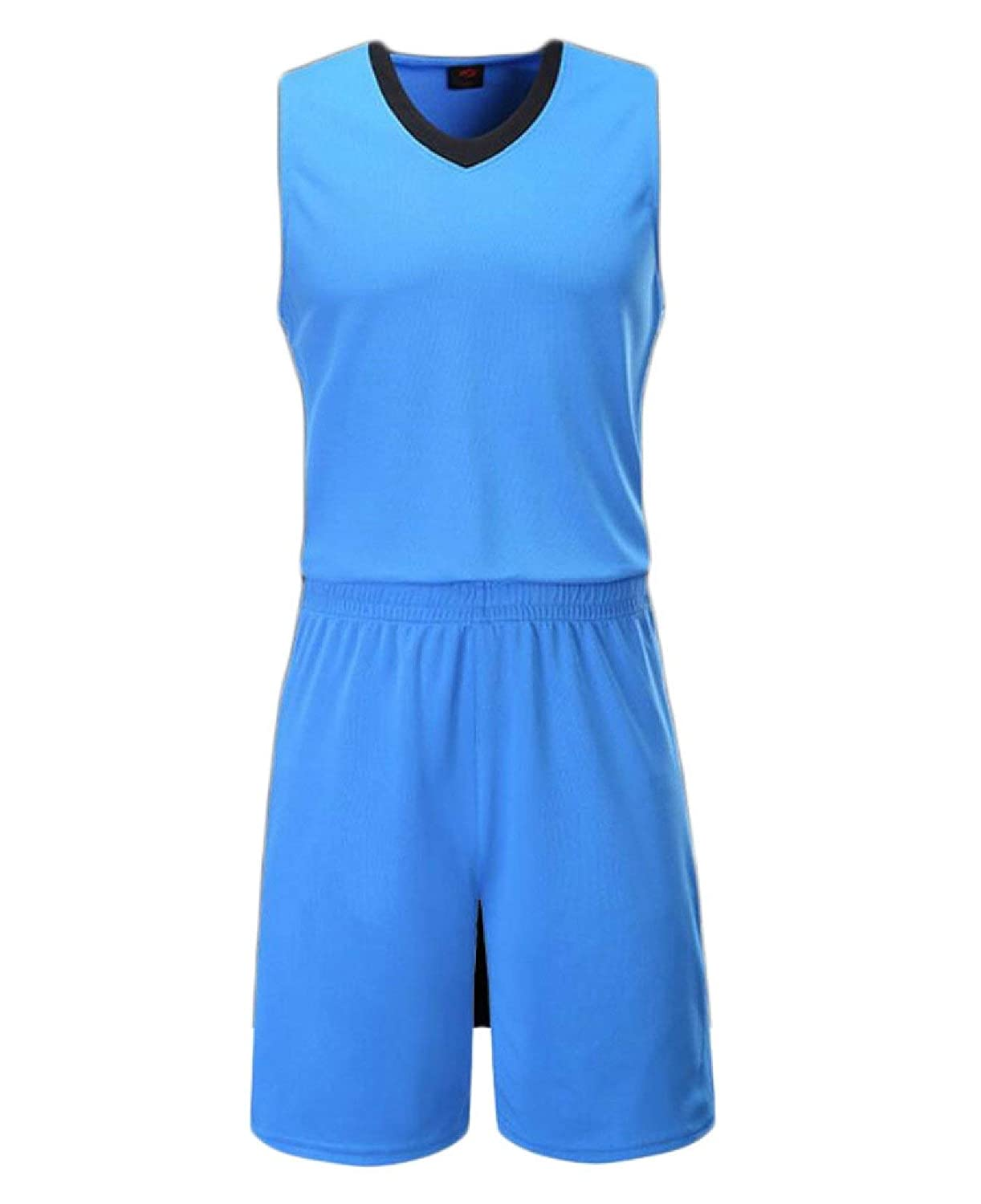 Alion Mens Basketball Jersey and Shorts Trainning Uniform Tank Top Set