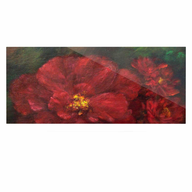 Kess InHouse Cyndi Steen My Beauty Red Green Luxe Rectangle Panel 24 x 36