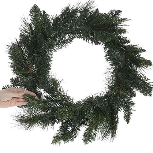 Factory Direct Craft 18 Inch Diameter Artificial Pine Wreath for Home and Holiday Decor