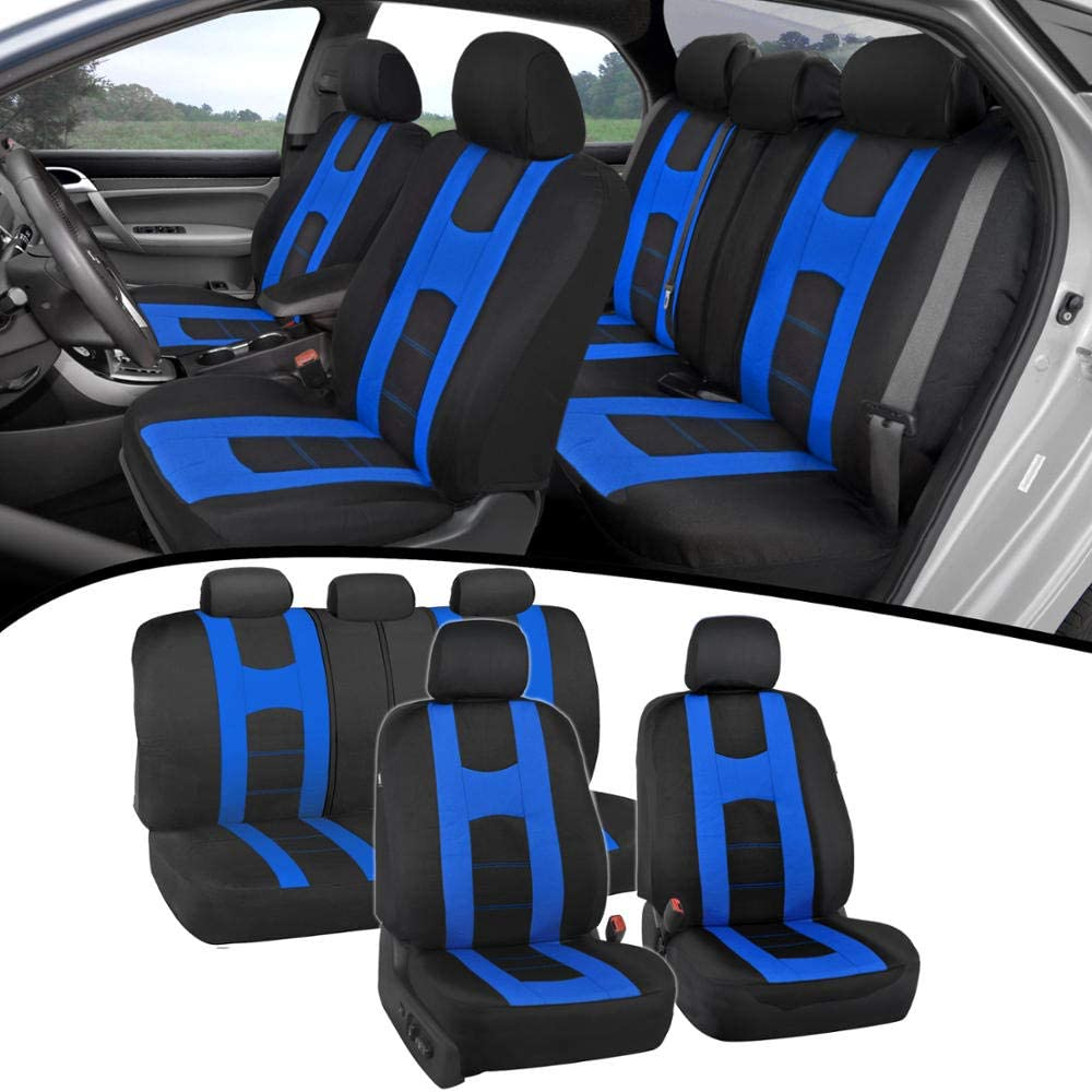 UKB4C Black Full Set Front /& Rear Car Seat Covers for C3 Picasso 09-On