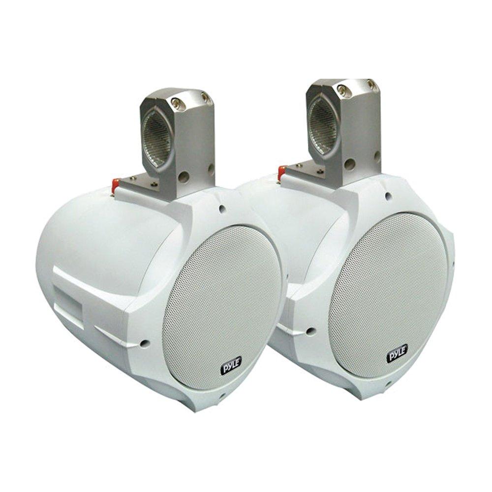 Pyle 8'' 300 Watt Two-Way White Wake Board Marine Speakers