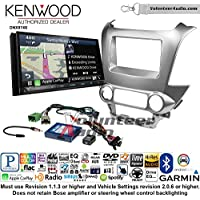 Volunteer Audio Kenwood DNX874S Double Din Radio Install Kit with GPS Navigation Apple CarPlay Android Auto Fits 2015 Chevrolet Tahoe, Suburban