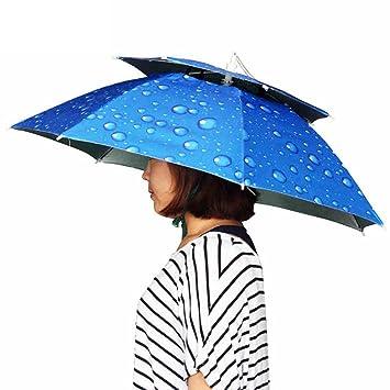 Paraguas de la Pesca la Cabeza del Sombrero del Paraguas Plegable Pesca el Sombrero Sombrero de