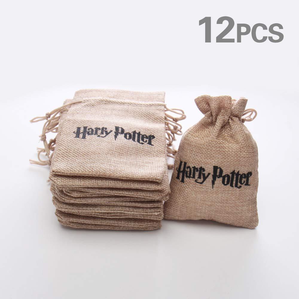 Borsa Regalo Gioielli, 12 Pezzi Regali di Nozze Jiale Sacchetto Regalo Borsa in Lino per Tema Harry Potter