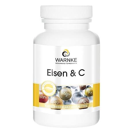 Hierro y C – 14mg de Hierro con Vitamina C – para la perfecta absorción de