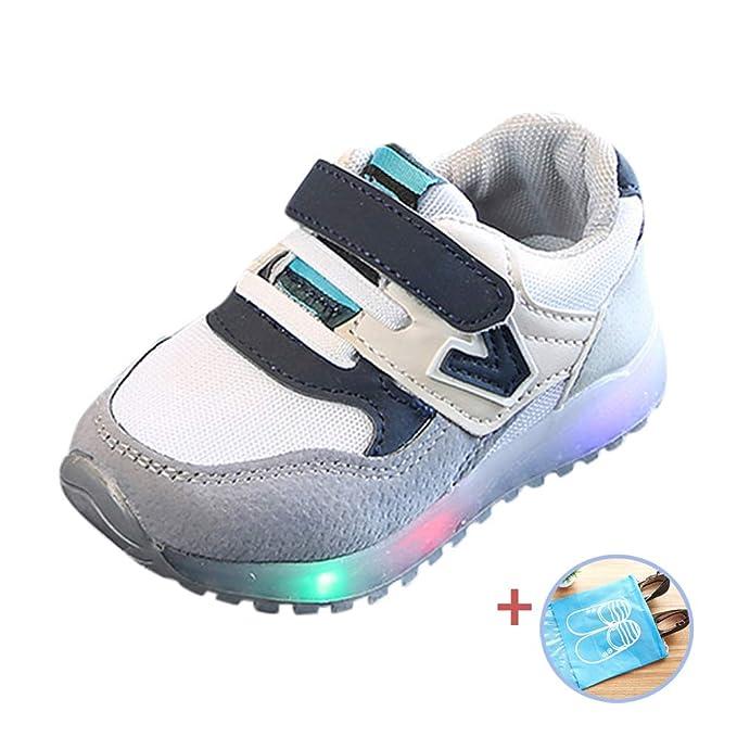 Morbuy Zapatillas de Deporte con Luces LED, Bebe Unisex Ocio Zapatos Moda Niñas Niños Cómodo Antideslizante Suela Blanda Zapatos: Amazon.es: Ropa y ...