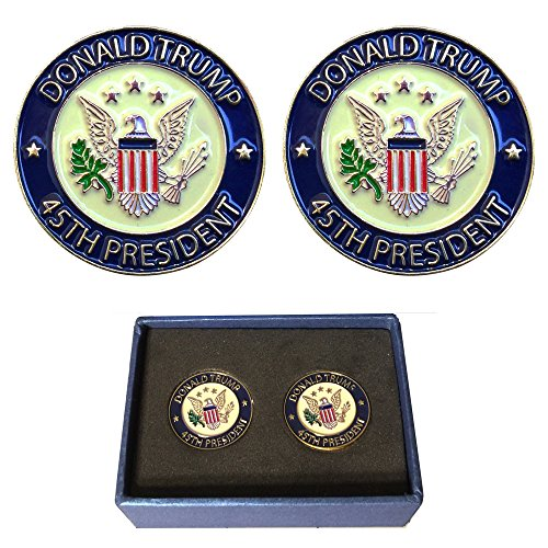 Donald Trump 45th President Lapel Pin Hat Tac, Trump Pin With GiftBox, Pack Of 2 Pins, White House Presidential Souvenir And Collection