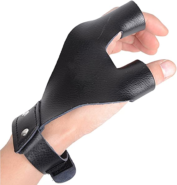Archery Finger Tab Guard Protection Pad Glove for Bow Hunting Outdoor Shootin AE