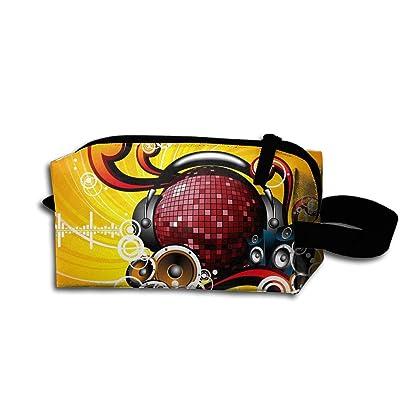 Travel Bag Music Heart Toiletry Bag Clash Durable Zipper Wallet Makeup Handbag With Wrist Band