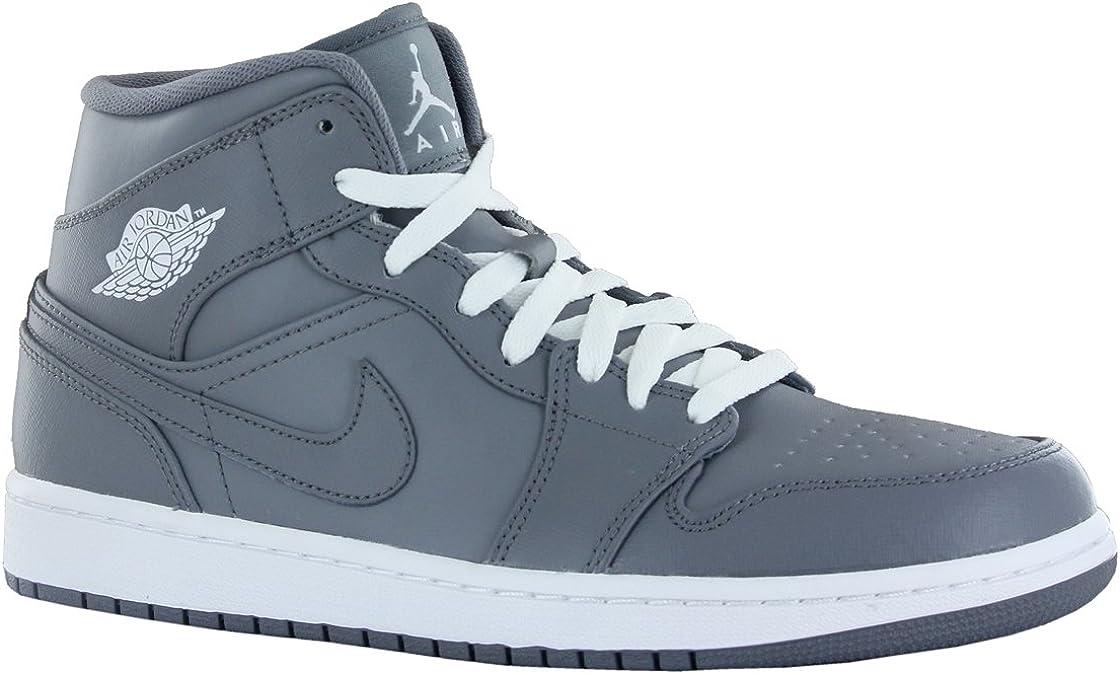 Constitución Terminología gráfico  Nike Air Jordan 1 Mid Grey Mens Trainers Size 47 EU: Amazon.de: Schuhe &  Handtaschen