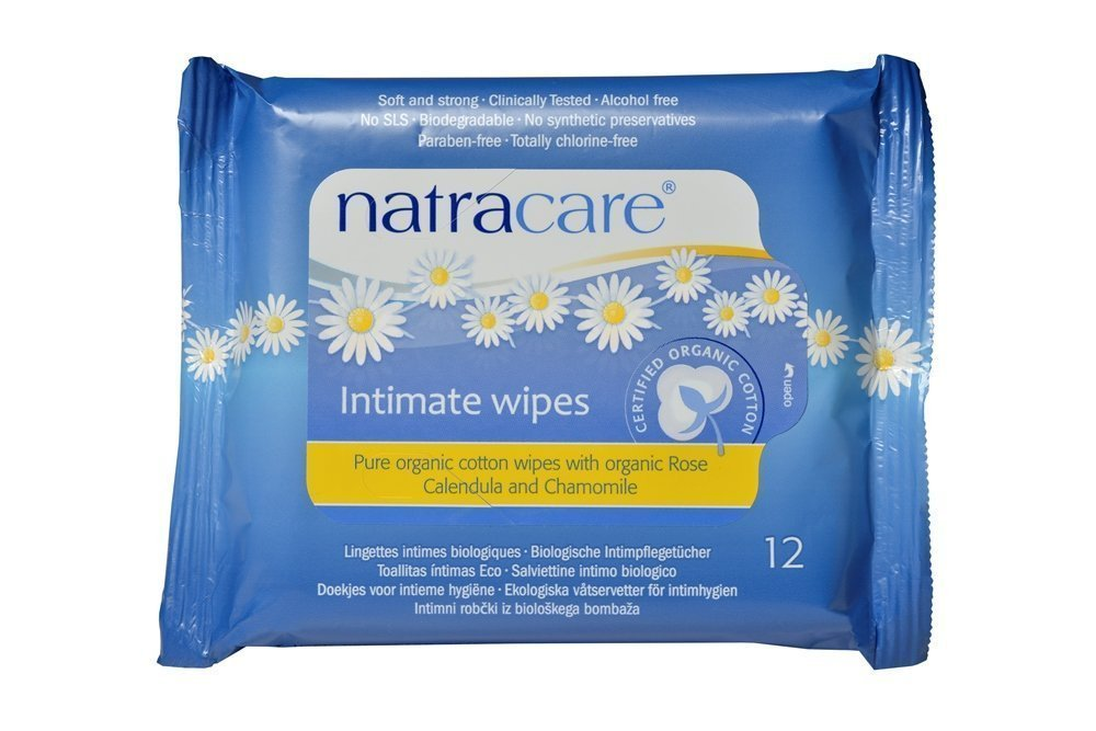 Organic Cotton Intimate Wipes - 12wipes NATRACARE