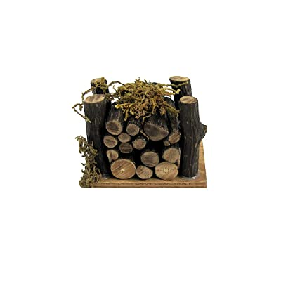 TG,LLC Treasure Gurus 1:12 Scale Wood Pile Outdoor Dollhouse Accessory Mini Fairy Garden Camp Fire Supply: Garden & Outdoor