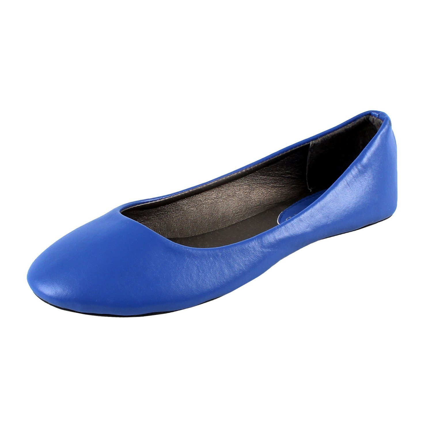 Women's New Dev-9 Round Toe Ballet Flats Ballerina Runs Small Consider Going One Size Up B01MYO5UQS Small / 8 B(M) US|Blue Pu