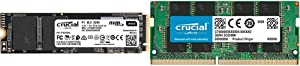 Crucial 8GB Single DDR4 2400 MT/S (PC4-19200) SR x8 SODIMM 260-Pin Memory with P1 500GB 3D NAND NVMe PCIe M.2 SSD - CT500P1SSD8