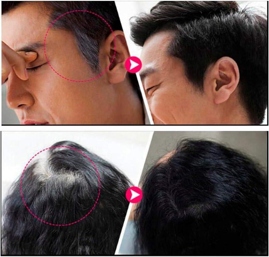 Pluma de tinte para el cabello temporal, cubierta única Herramienta para teñir el cabello blanco Aplicador de marcador de retoque de raíz gris Negro
