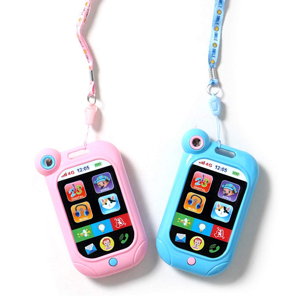 Cool Music Phone with Mirror in 2 Pack Birthday Present/ Party Draw Gift/ Toy for Age 3 by Mapnana