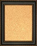 Framed Cork Board 24'' x 36'' - with Black Leather Look Design Frame