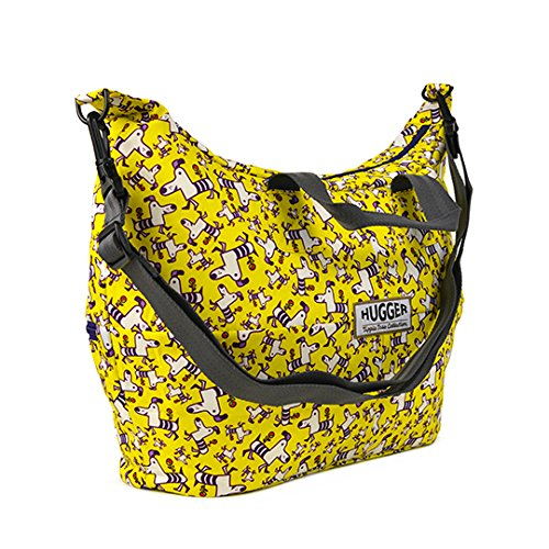 Hugger Yello morado perro–bolso cambiador (cambiador mate incluido