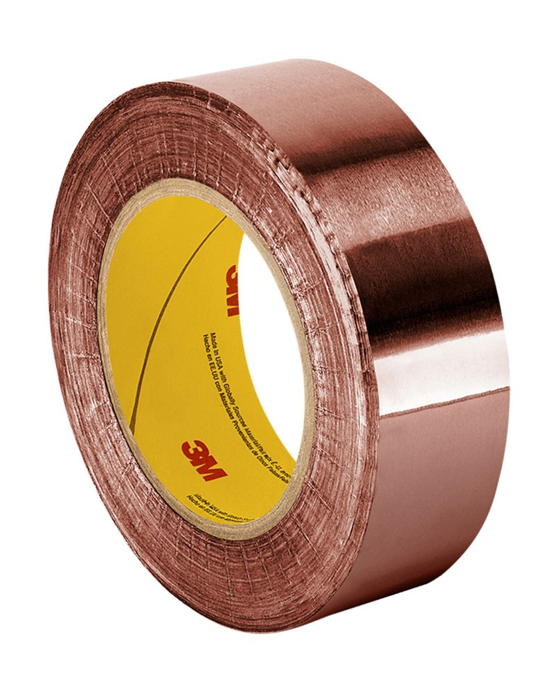 3M 1182 Double-sided Foil Tape with Conductive Adhesive- 18 yds length, 2'' width, 1 roll