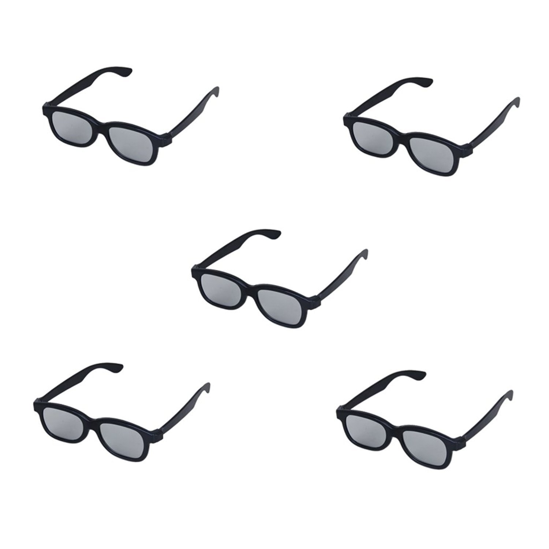 kotiger 5pcs adultos lente polarizada circular pasivo 3d gafas